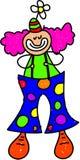 Bambino del pagliaccio illustrazione vettoriale