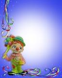 Bambino del pagliaccio dell'invito di compleanno Fotografia Stock