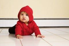 Bambino del pavimento Fotografia Stock