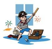 Bambino del pirata Fotografia Stock Libera da Diritti