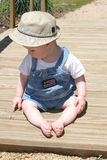 Bambino del ponticello fotografie stock