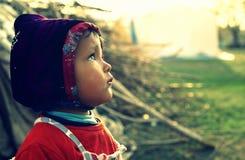 Bambino del rifugiato Immagine Stock