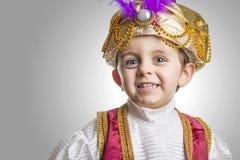 Bambino del sultano che smilling fotografie stock
