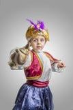 Bambino del sultano con la lampada fotografie stock libere da diritti