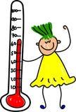 Bambino del termometro illustrazione vettoriale