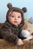 Bambino del vestito dell'orso Fotografia Stock Libera da Diritti