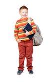 Bambino dell'allievo con i libri Immagine Stock Libera da Diritti
