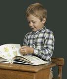 Bambino dell'allievo nel banco Immagini Stock Libere da Diritti