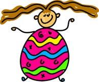 Bambino dell'uovo di Pasqua Fotografia Stock Libera da Diritti