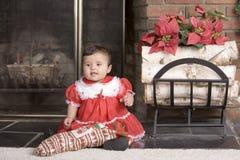 Bambino della calza Fotografie Stock Libere da Diritti