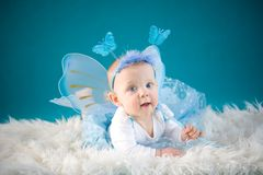 Bambino della farfalla Fotografie Stock