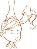 Bambino della fasciatura avvolto testa Immagine Stock