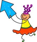 Bambino della freccia royalty illustrazione gratis