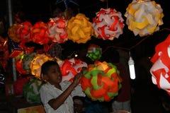 Bambino della lanterna Immagini Stock Libere da Diritti