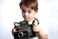 Bambino della macchina fotografica di Insant Immagini Stock Libere da Diritti