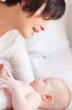 Bambino della madre di Parency Fotografia Stock