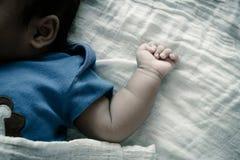 bambino della mano, tono d'annata Fotografia Stock Libera da Diritti