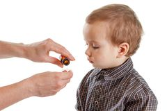 Bambino della medicina del cucchiaio dello sciroppo del bambino, salute fotografia stock libera da diritti