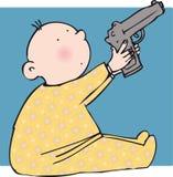 Bambino della pistola Fotografia Stock