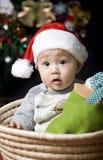 Bambino della Santa di natale Fotografia Stock