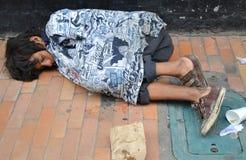 Bambino della via in Colombia Immagine Stock