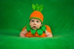 Bambino della zucca Fotografia Stock