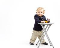 Bambino di affari immagini stock