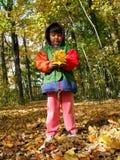 Bambino di autunno Fotografia Stock