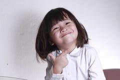 Bambino di azione fotografia stock