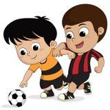Bambino di calcio del fumetto Immagine Stock