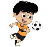 Bambino di calcio del fumetto Fotografia Stock Libera da Diritti