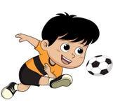 Bambino di calcio del fumetto Fotografie Stock