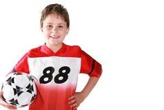 Bambino di calcio (spazio della copia) Fotografia Stock Libera da Diritti
