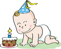 Bambino di compleanno Fotografia Stock Libera da Diritti