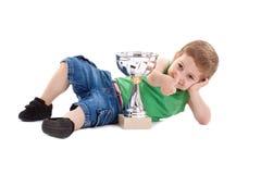 Bambino di conquista Fotografia Stock