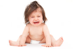 Bambino di grido Fotografie Stock
