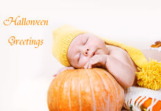 Bambino di Halloween Fotografie Stock