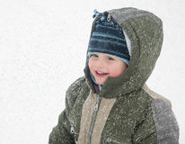 Bambino di inverno immagine stock