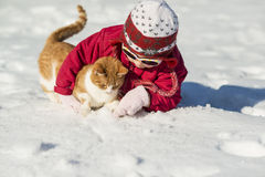 Bambino di inverno Immagini Stock