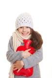 Bambino di inverno Fotografie Stock