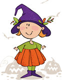 Bambino di magia di Halloween Fotografie Stock