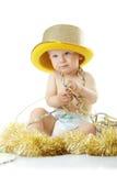 Bambino di nuovo anno felice Fotografia Stock
