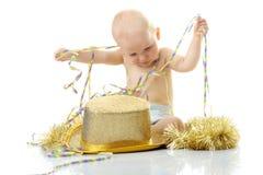 Bambino di nuovo anno felice Fotografie Stock Libere da Diritti