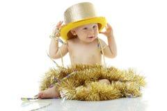 Bambino di nuovo anno felice Fotografie Stock