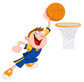 Bambino di pallacanestro Fotografia Stock Libera da Diritti