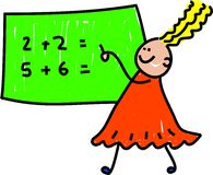 Bambino di per la matematica Fotografia Stock Libera da Diritti