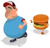 Bambino di peso eccessivo Immagini Stock