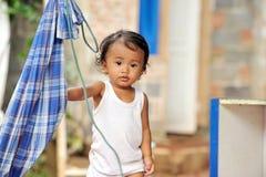Bambino di povertà Fotografia Stock