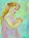 Bambino di preghiera royalty illustrazione gratis
