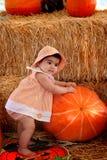 Bambino di Pumpking Fotografia Stock Libera da Diritti